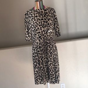 Kate Spade Cheetah Ponte dress w/pockets